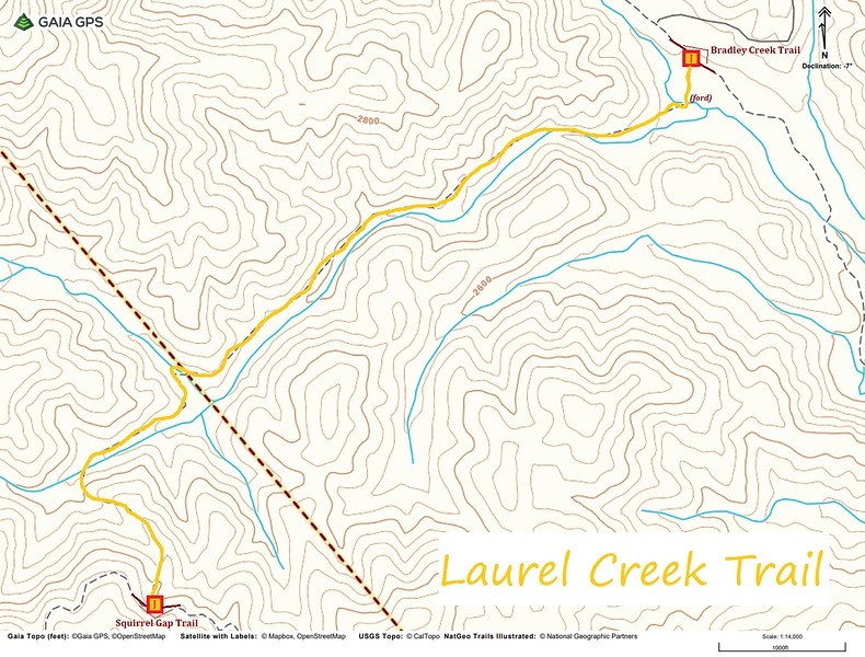 Laurel Creek Trail Map