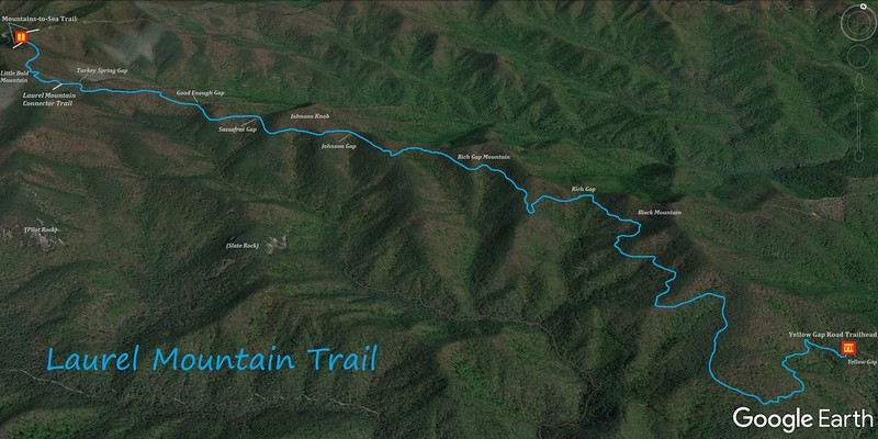 Laurel Mountain Trail Map