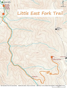 Little East Fork Trail Map