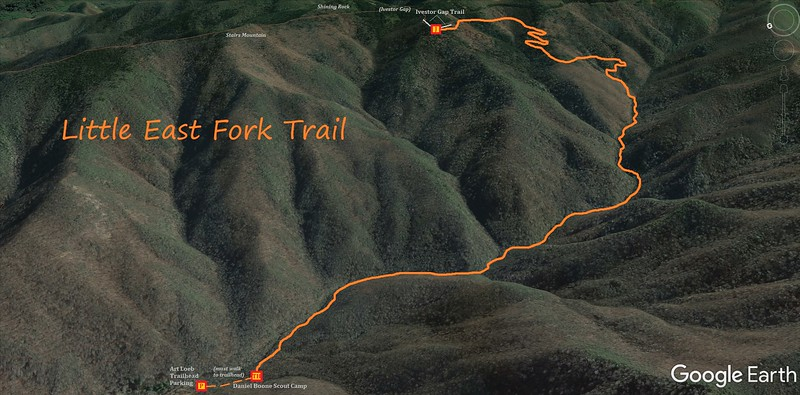 Little East Fork Trail Map