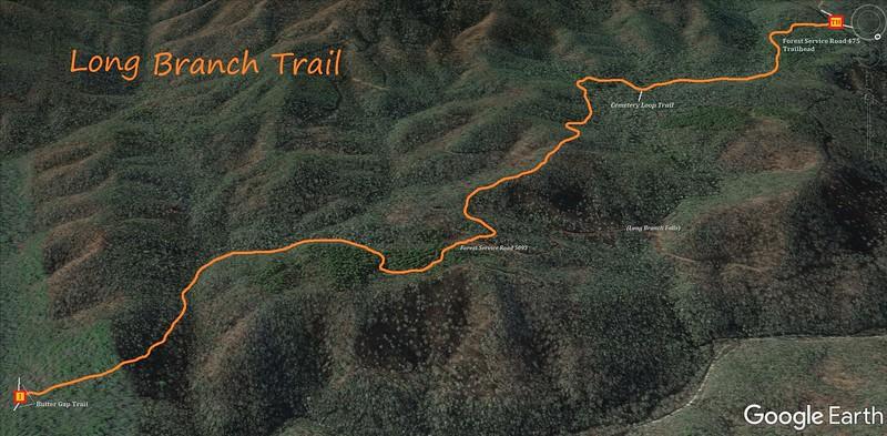 Long Branch Trail Map