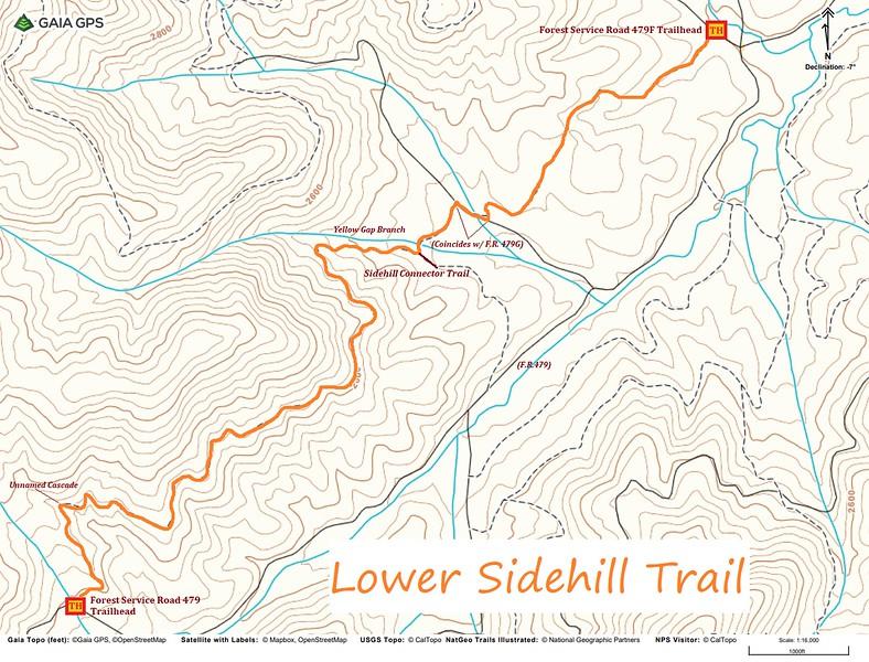 Lower Sidehill Trail Map