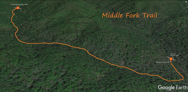 Middle Fork Trail Map