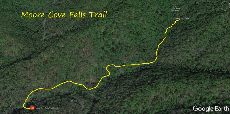 Moore Cove Trail Map