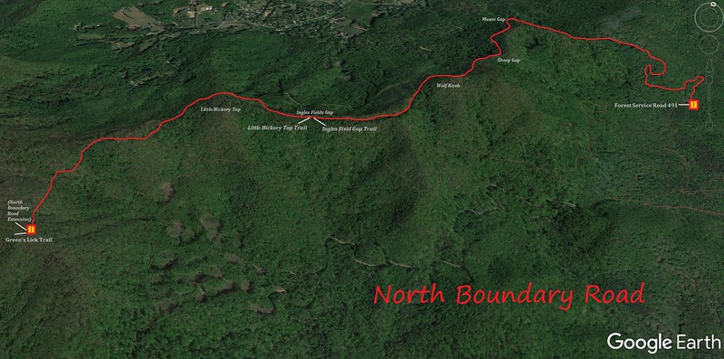 North Boundary Road Map