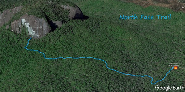 North Face Trail Map