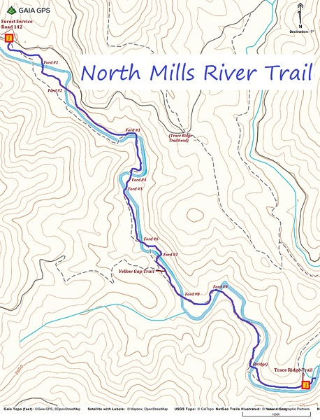 North Mills River Trail Map