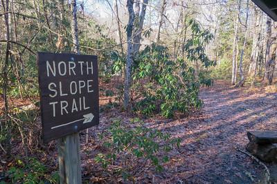 North Slope Trailhead (Davidson River Campground) -- 2,150'