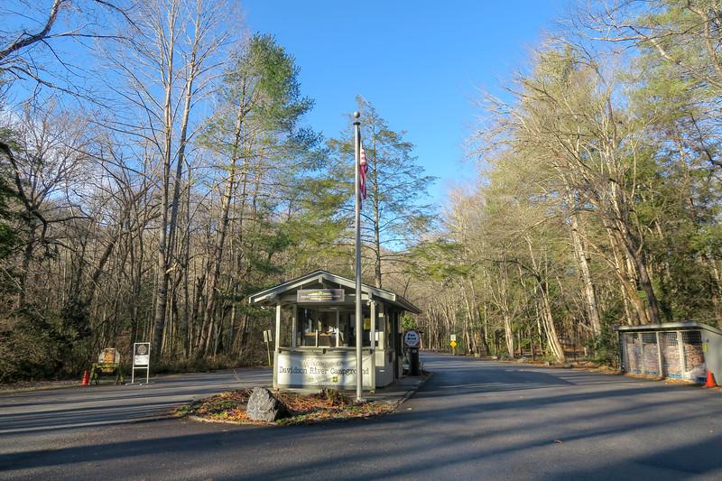 Davidson River Campground Entrance -- 2,150'
