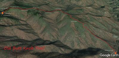 Old Butt Knob Trail Map