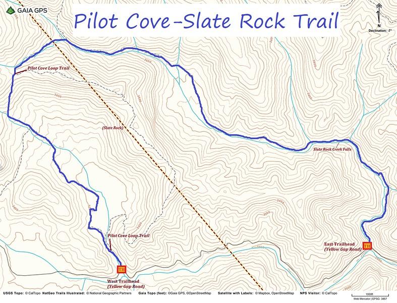 Pilot Cove-Slate Rock Trail Map
