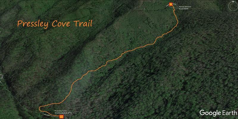 Pressley Cove Trail Map