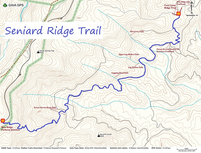Seniard Ridge Trail Map