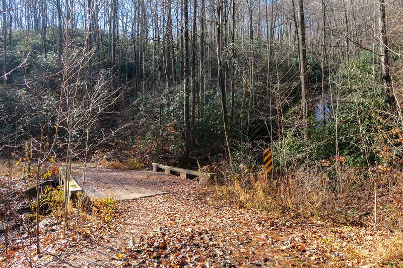 Seniard Ridge Trail/F.R. 5043 @ Log Hollow Branch -- 3,200'