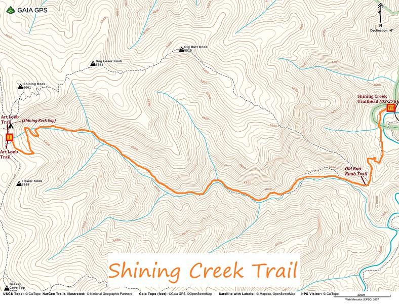 Shining Creek Trail Map
