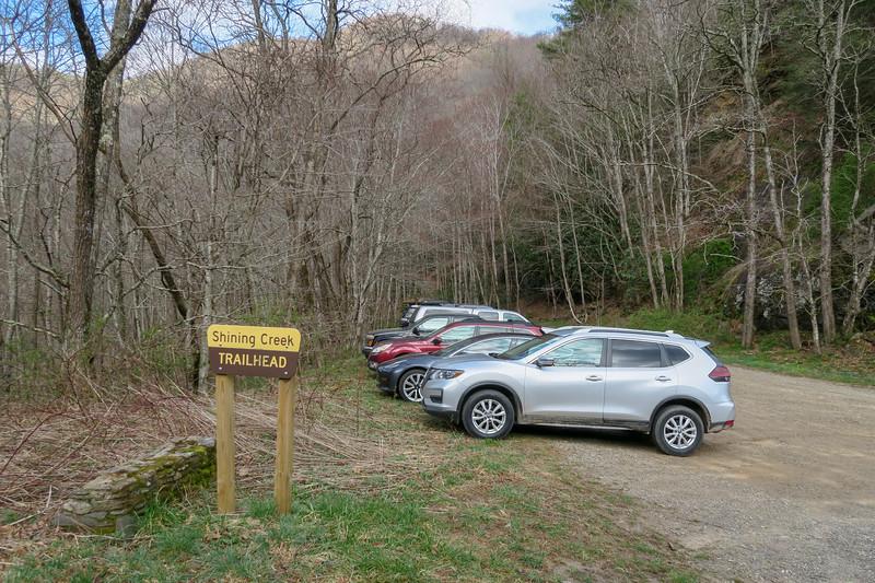 Shining Creek Trailhead (US-276) -- 3,400'