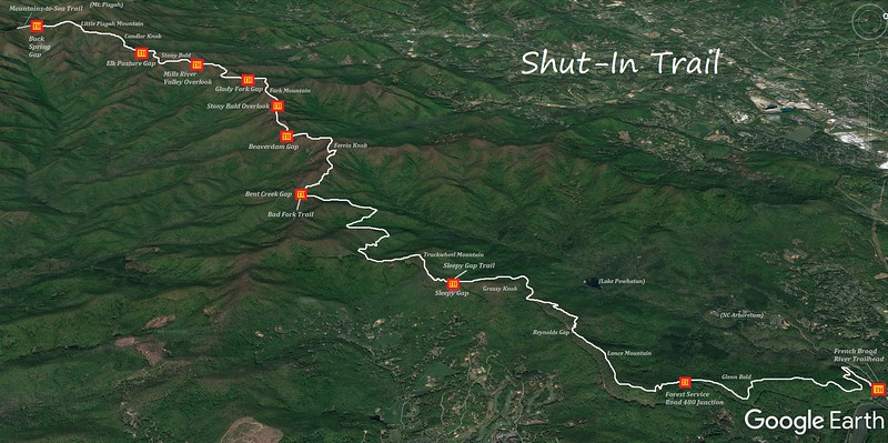 Shut-In Trail Map