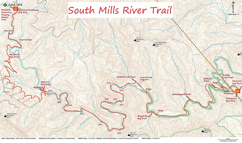 South Mills River Trail Map