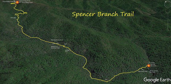 Spencer Branch Trail Map