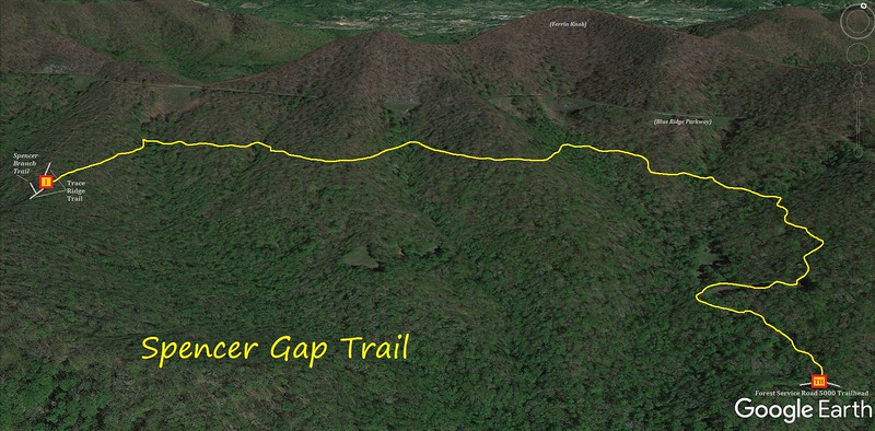 Spencer Gap Trail Map