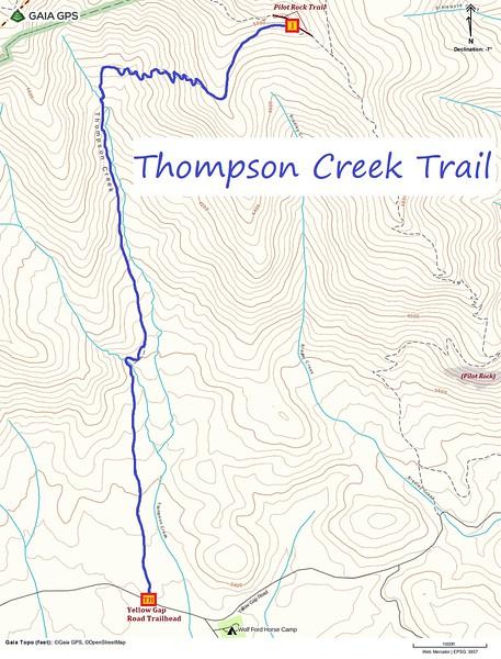 Thompson Creek Trail Map