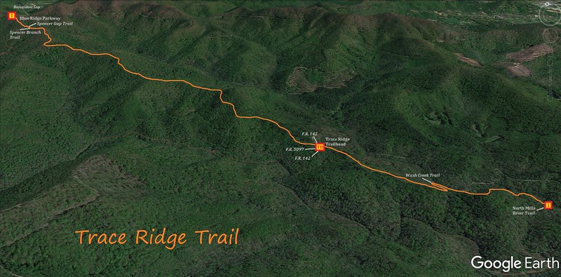 Trace Ridge Trail Map