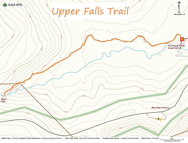 Upper Falls Trail Map