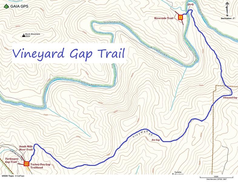 Vineyard Gap Trail Map