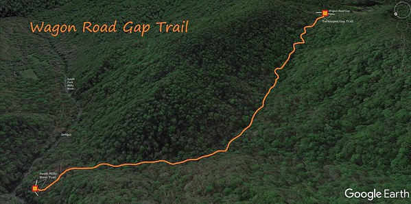 Wagon Road Gap Trail Map