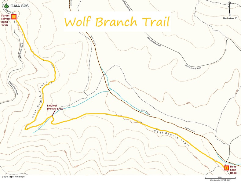 Wolf Branch Trail Map