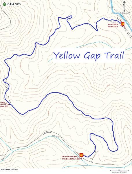 Yellow Gap Trail Map