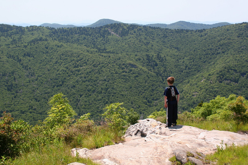 Chris overlooks the Middle Prong Wilderness...
