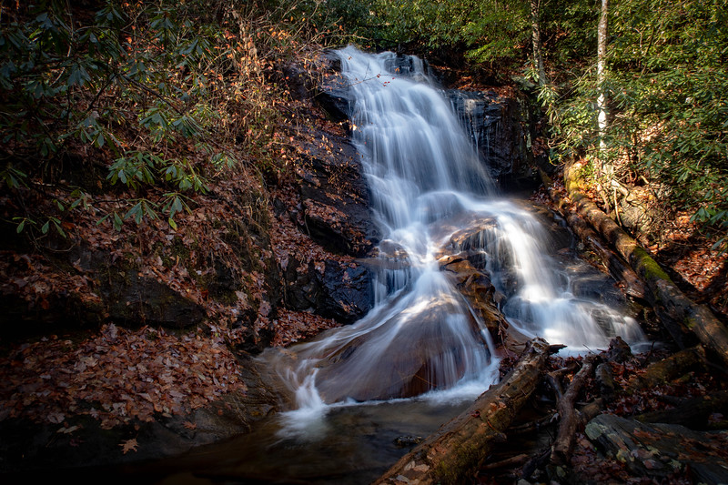 Log Hollow Falls -- 3,200'