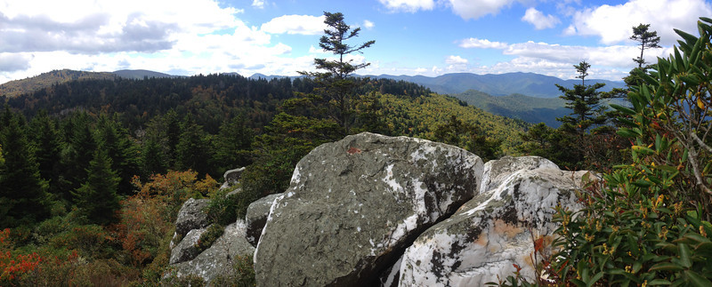 Shining Rock pano...  (5,900')