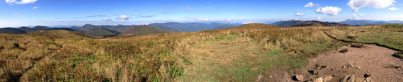 Black Balsam Knob Summit...a 180-degree western panorama...at least a dozen other 6,000' peaks are visible in this shot...  (6,214')