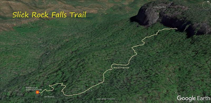 Slick Rock Falls Trail Route Map
