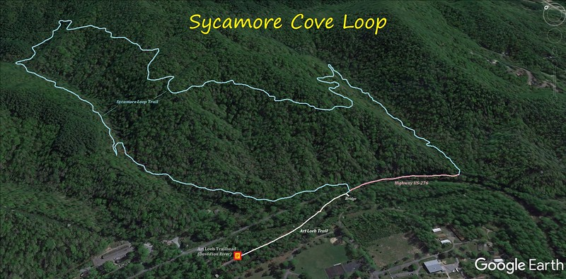 Sycamore Cove Loop Hike Route Map