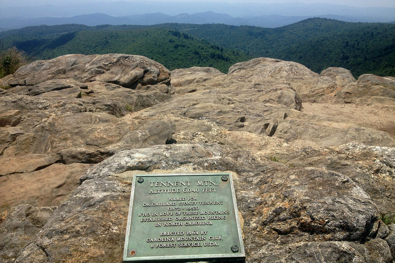 What a spot to be memorialized!! Tennent Mountain summit, 6,040'...