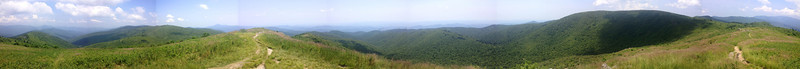 Alright, 360-degree panorama's are all but impossible to accomplish with perfect precision, but I think this one from the summit of Tennent Mountain still gives you a good idea of the awe-inspiring views from this amazing summit...