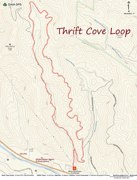 Thrift Cove Loop Hike Route Map