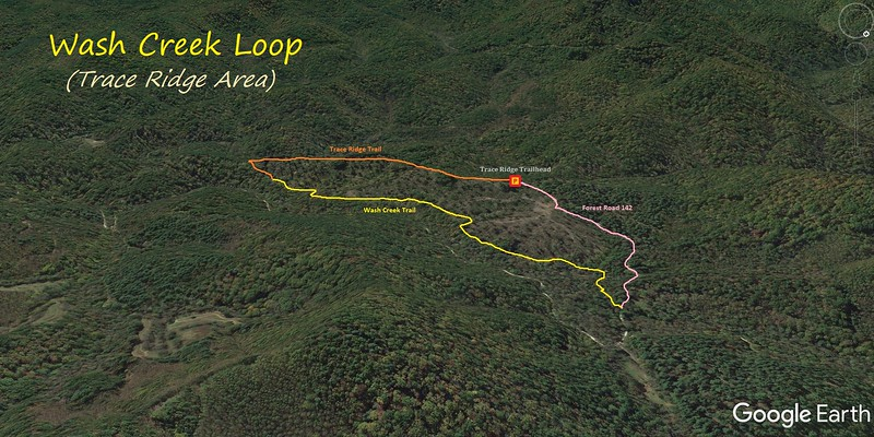 Trace Ridge-Walsh Creek Loop Hike Route Map