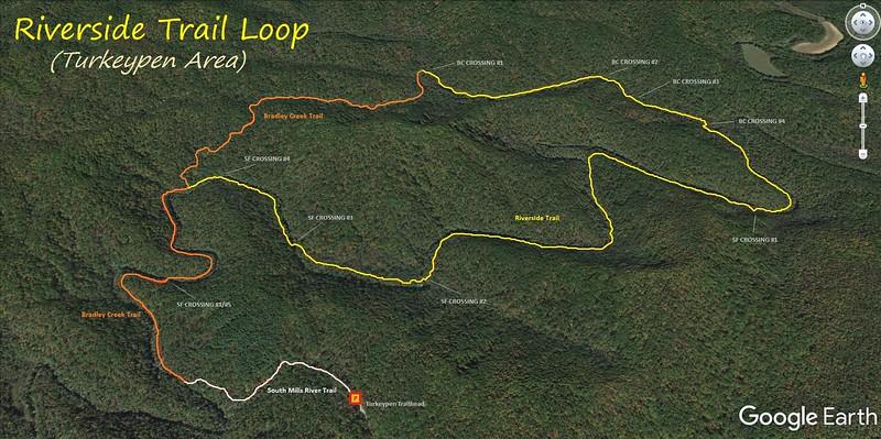 Riverside Trail Loop Hike Route Map