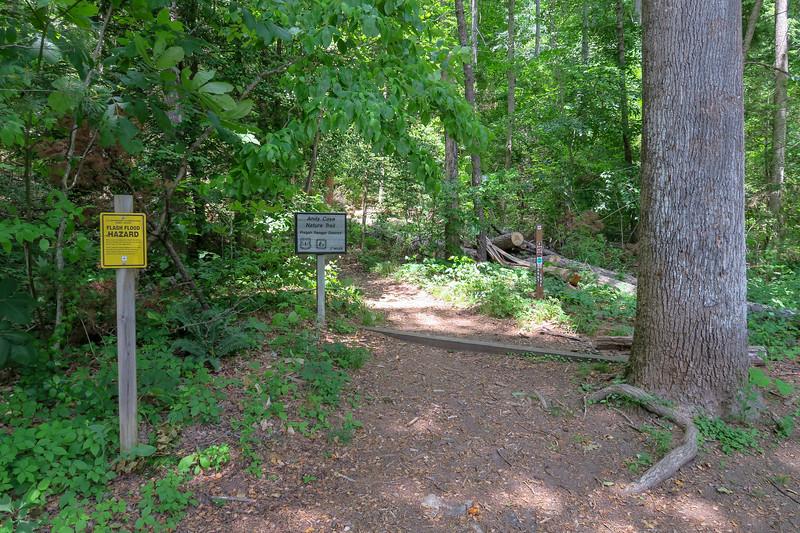 Pisgah Ranger Station Trailhead (Andy Cove Nature Trail & Exercise Trail) -- 2,180'