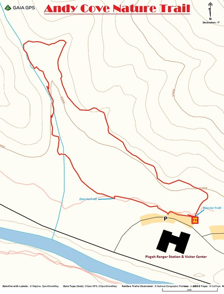 Andy Cove Nature Trail Map