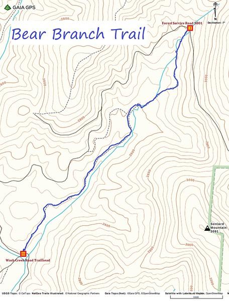 Bear Branch Trail Map