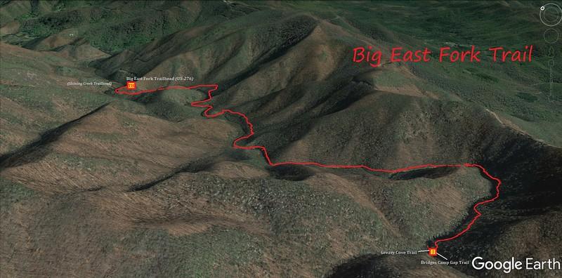 Big East Fork Trail Map