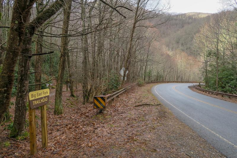 Big East Fork Trailhead  -- 3,420'