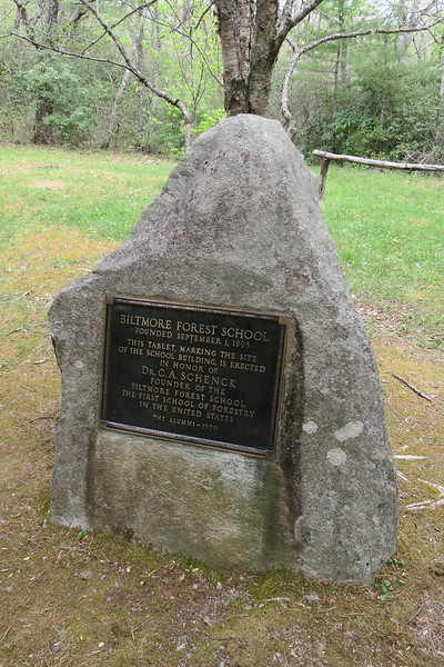 Biltmore Campus Trail -- Plymouth Rock of Forestry -- 3,300'