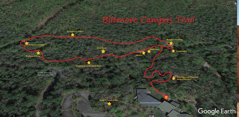 Biltmore Campus Trail Map