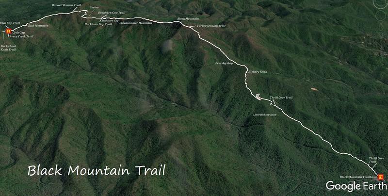 Black Mountain Trail Map